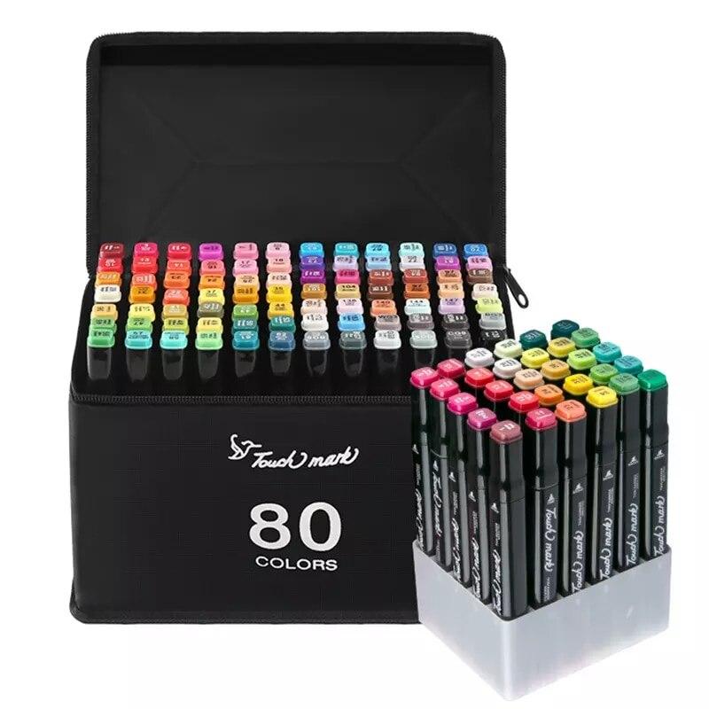 Набор двойных графических маркеров фломастеров для рисования скетчинга творчества рукоделия художников детей 36 48 60 80 шт