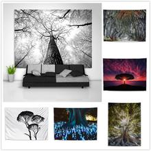 Дерево завод фантазия trippy гобелен искусство настенный диван
