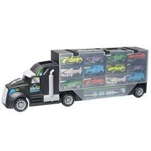 13 шт./компл. транспортный автомобиль грузовик Перевозчик игрушек» для мальчиков(в том числе сплав 10 машин и 2 вертолета) для детей