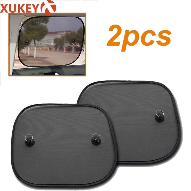 Car-Sun-Shades Visor-Shield Screen Mesh Window Uv-Protection Interior Black-Side 2pcs