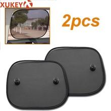 Super calidad 2 uds lado posterior Parasoles de coche trasero parasol para ventanilla cubierta visera de malla escudo pantalla Interior protección UV