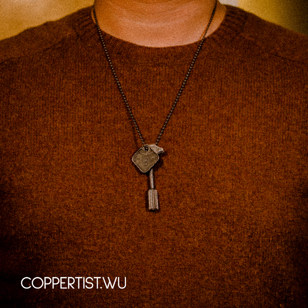 Coppertist. wu schlüssel für maxim maschine gun S925 silber Keychain Gold Schlüsselanhänger Schlüssel Ring Hand Gemacht Metall Auto Schlüssel Ketten Handtasche hängen - 3