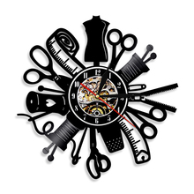 Sewing Machine Quilting Tools Vinyl Record Wall Clock Tailor Seamstress Sign Modern Hanging Decor Timepiece Led Watch Light