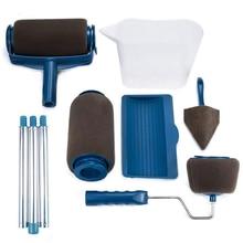GH 8 шт., роликовая кисть для рисования, ручка, инструмент, Флокированная кромка, для офисной комнаты, Настенная краска, домашний инструмент, набор Роликовых Кистей, Прямая поставка