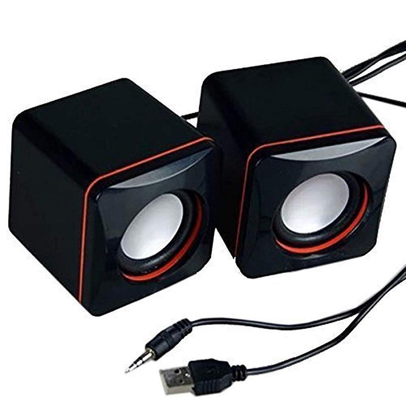 BEESCLOVER Portable Computer Speakers USB Powered Desktop Mini Speaker Bass Sound Music Player System Wired Small Speaker