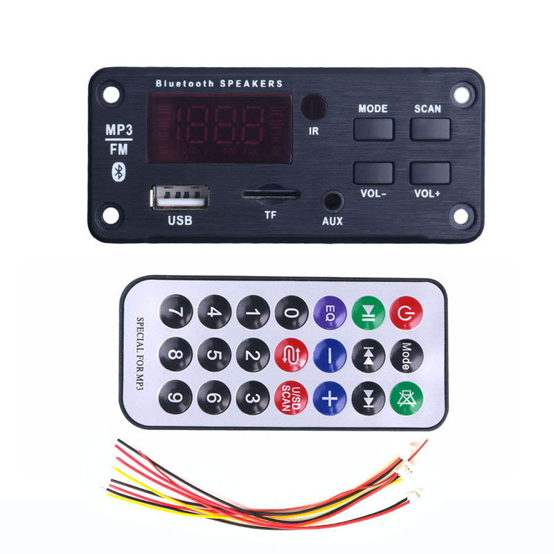 MP3 WMA Decoder MP3 Player Wireless Bluetooth 5.0 Board USB TF FM Radio 12V Music Audio Receiver Module For Car Accessories DIY