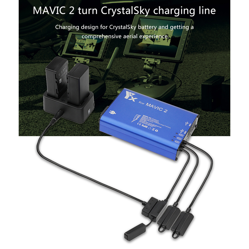 Купить с кэшбэком Professional/zoom Transfer To CrystalSky HD Screen Connect Screen Battery Charging Power Cable Accessories for MAVIC 2