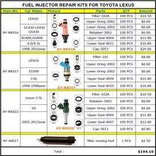 燃料噴射装置の修理キットサービスキットトヨタレクサス 4.3 3.0 3.5 V6 GS430 E300 SC430 と LS430 100 ピース/バッグ送料無料