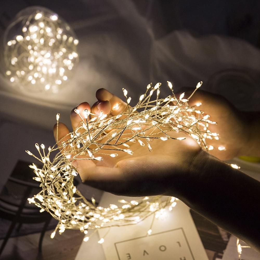 Уличная Водонепроницаемая гирлянда, светодиодная гирлянда Firecracker, 8 режимов, Рождественская елка, украшение для дома вечерние вечеринки, пр...