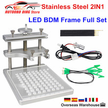 Best Metal LED BDM FRAME Stainless Steel 2IN1 With 4pcs Probe ECU Programming Bracket For KTAG KESS FGTECH ECU Chip Tuning Tool