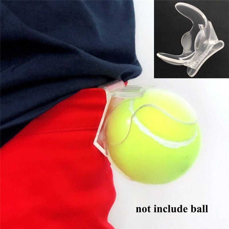Professional Tennis Ball Clip Tennis Ball Holder Waist Clips Transparent Holds Training Equipment Tennis Ball
