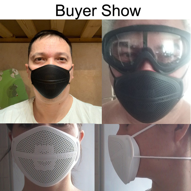 KanShouZhe Reusable Face Masks Protective Mask with 10 filters PM2.5 Safety Mask Mouth Nose Disconnect-type for Dust Mouth Cap 4
