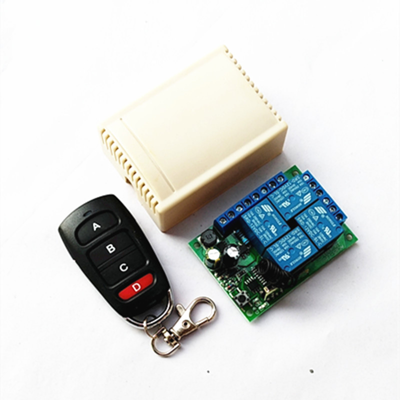 433Mhz Universal Wireless Remote Control Switch AC 85V ~ 250V 220V 4 Channel Relay Receiver Module And RF Control