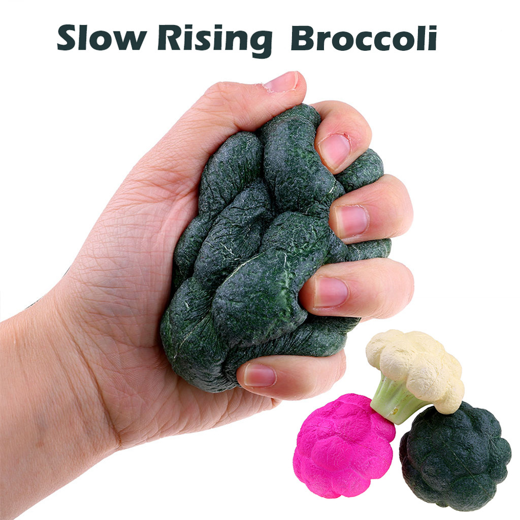 Squishy Antistress Slow Simulate Broccoli Stress Reliever Fries Squeeze Stress Stretch Rising Squeeze Toy L1217