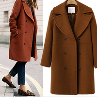 2019 New Women Long Woolen Coat Winter Cashmere Jacket Double Breasted Thick Overcoat Female Outwear Casual Fashion Wool Coats