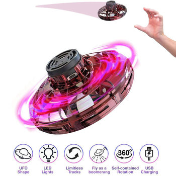 Mini Drone UFO Flying spinner Helicopter  Hand Operated Induction  Fingertip  Flight Gyro Drone Aircraft Toy Adult Kids Gift global drone 2ch remote control spaceman helicopter induction aircraft toy helicopter drone indoor children gift toys
