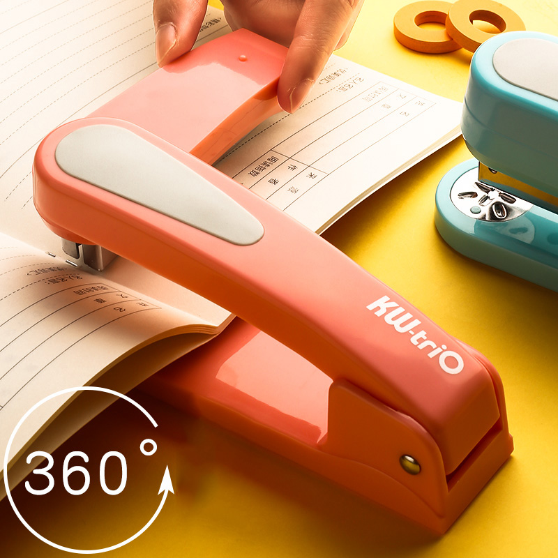 360 Rotation Heavy Duty Stapler Use 24/6 Staples Effortless Long Stapler School Paper Stapler Office Bookbinding Supplies