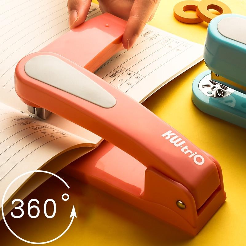 360 Rotation Heavy Duty Stapler Use 24/6 Staples Effortless Long Stapler School Paper Stapler Office Bookbinding Supplies
