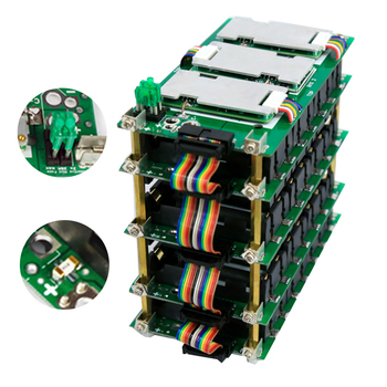 цена на 7S Power Wall 29.4v 18650 Battery Holder 7S Battery pack Balancer PCM PCB 20A 40A 60A BMS Battery Case for diy Kit Ebike Battery