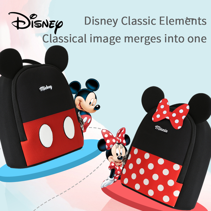 Disney Children School Bag Mickey Children's The Anti-lost Backpack 1-3-6 Years Old Baby Cute Cartoon Kid's Small Bag Shoulder