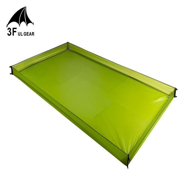 3F UL Gear 12000MM Waterproof 15D Nylon 210T Polyester Tent Floor Saver Footprint Ground Sheet Bathtub Outdoor Picnic Mat