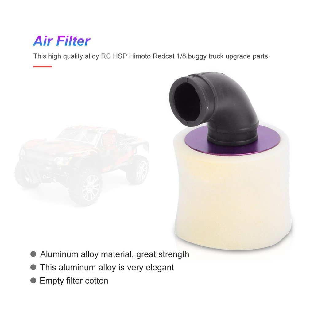 1//8 Air Filter for 1//8 Nitro Engine Powered RC Truck Car Spare Accs Blue