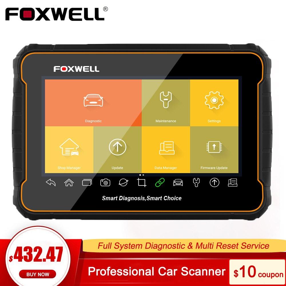 Foxwell gt60 obd2 profissional ferramenta de diagnóstico do carro leitor código sistema completo redefinir serviço odb2 obd 2 scanner automotivo pk mk808