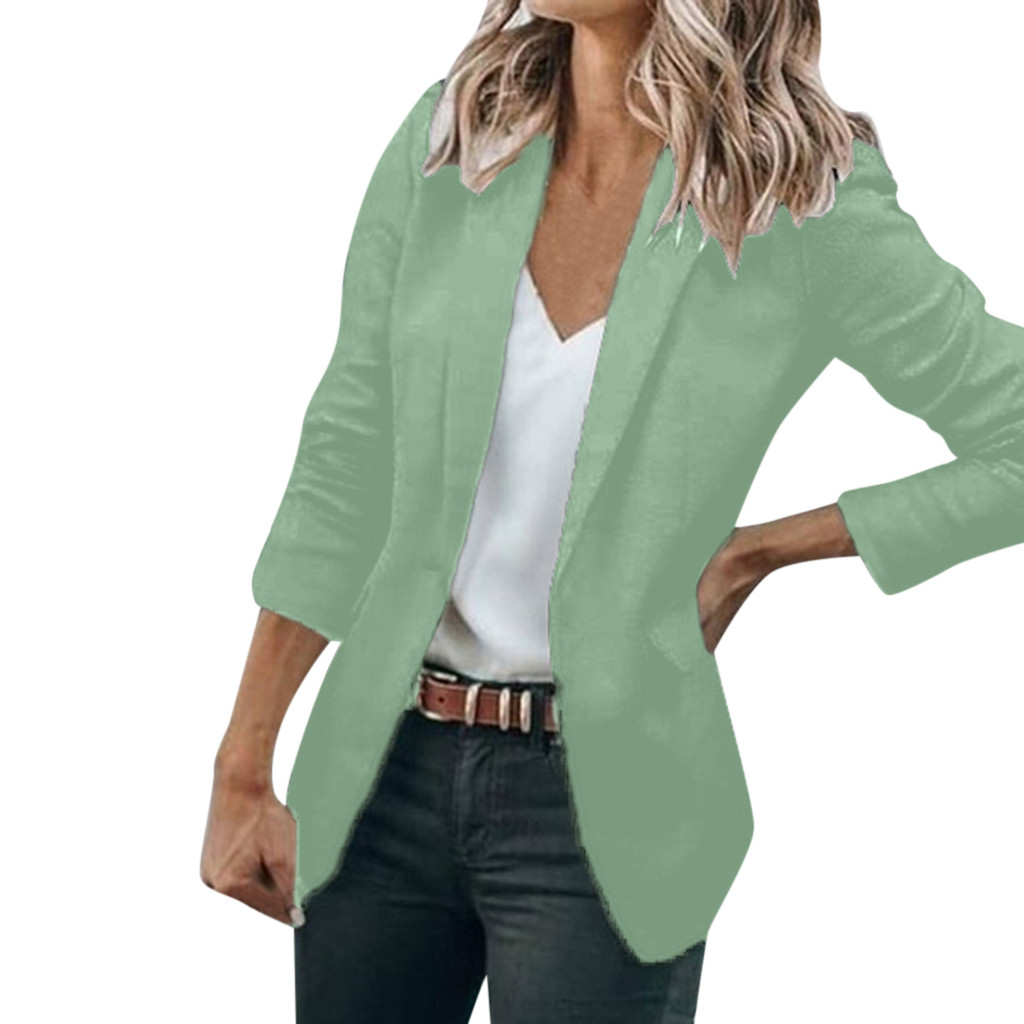 SAGACE Slim Blazers Women Autumn  Jacket Female Work Office Lady Suit Black None Button Business Notched Blazer Coat Fashion