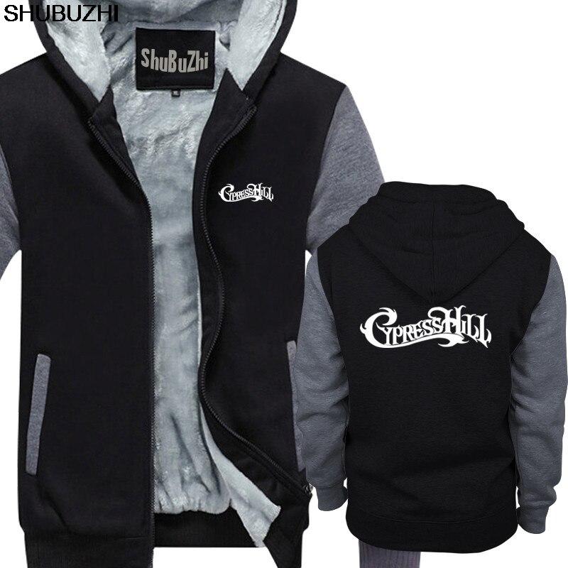 Thick Hoodies Jacket Band Rap Logo Cypress Black Coat Mens Xxl Sbz376 Gangstas Hill Hip-Hop-Up