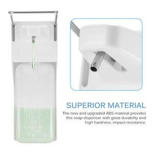 Image 4 - ABS plastic 1000ml liquid soap dispenser hospital hotel kitchen wall mounted elbow hand sanitizer hygienic Drip /spray version