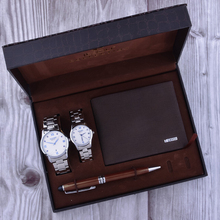 Top Quality Couple Watches Set Steel Belt Waterproof Quartz