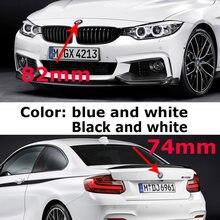 2 шт. 82 мм 74 мм черная база Эмблема автомобиля значок капот передний задний багажник для E46 E39 E38 E90 E60 Z3 Z4 X3 X5 X6 51148132375