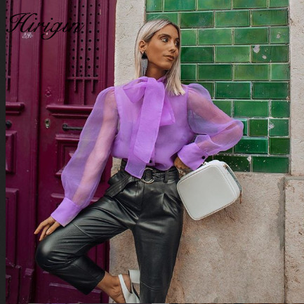 England Vintage Perspective Organza Pruple Kimono Blouse Women Blusas Mujer De Moda 2020 Shirt Womens Tops And Blouses