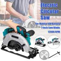 Electric Wood Circular Saw Handle Power Tools Dust Passage 12000RPM Multifunction Cutting Machine For Makita 18V 21V Battery