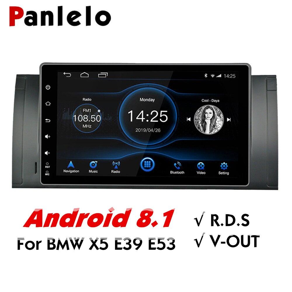 Panlelo pour BMW X5 E53 Android 8.1 Navigation GPS 2 Din Android 9 pouces écran tactile complet Quad Core IPS écran lecteur multimédia
