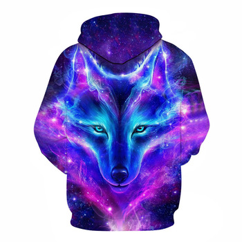 Personality Hoodie Wolf 3D Mens Boys Hoodies Sweatshirt Brand Designer mens Clothes Autumn Winter High Quality animal streetwear 2