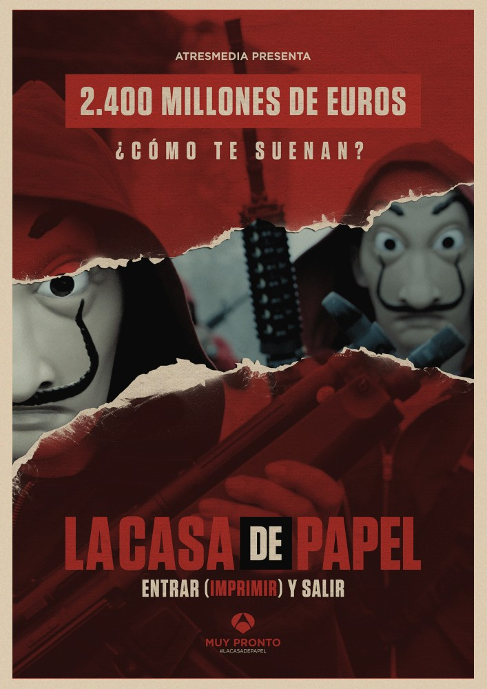 Image 3 - La Casa De Papel Money Heist Posters Retro kraft paper art Wall home Decoration Movie poster-in Wall Stickers from Home & Garden
