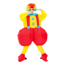 Adult Cosplay Clown Inflatable Costume for Purim Halloween Role Play Party Costumes Fancy Jumpsuit Woman Man Funny Carnival Suit