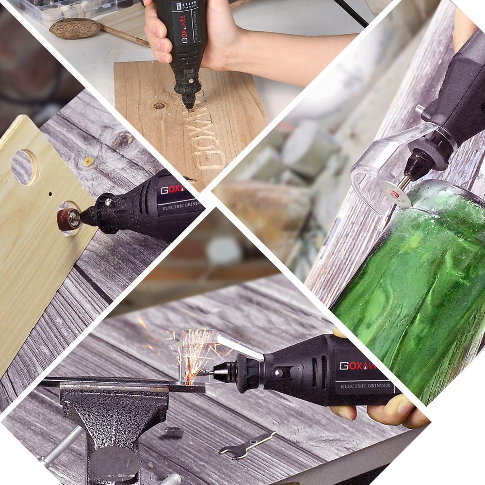 Image 5 - GOXAWEE Electric Drill Engraver Mini Drill Grinder Dremel Rotary Tool Kit With Dremel Accessories Drilling Machine Power Tool-in Electric Drills from Tools on