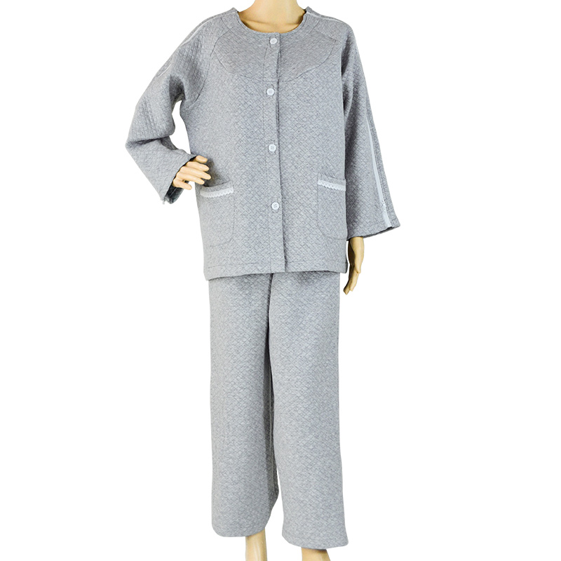 Patient Care Clothes,Easy To Wear,Cotton Velvet Thickening,Suitable For Postoperative Rehabilitation Of Fractures Patient,Gray