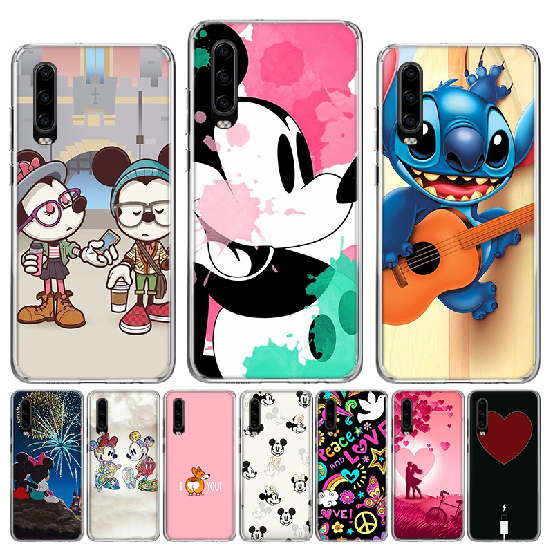 <font><b>Disneys</b></font> Cartoon Flower Love Heart Soft Silicone <font><b>Case</b></font> For <font><b>Huawei</b></font> P40 <font><b>P30</b></font> P20 P10 <font><b>lite</b></font> Mate 10 20 30 Pro + Fundas Coque Etui image