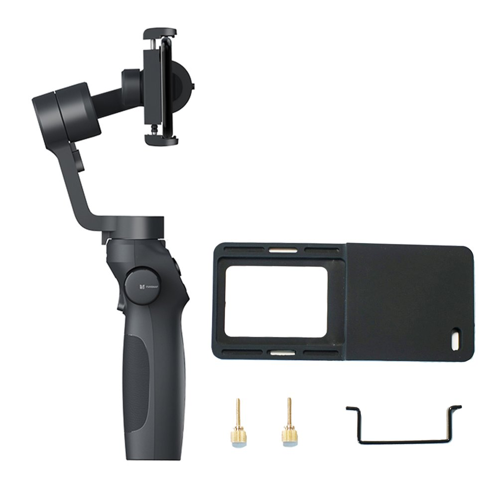 FUNSNAP Capture2 Stabilizer Gimbal New Handheld Gimbal Live Stabilizer Compatible for GOPRO Action Camera 4/5/6/7 Smartphone image