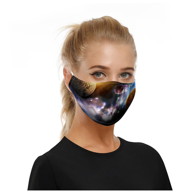 5pcs starry sky print earhook mask