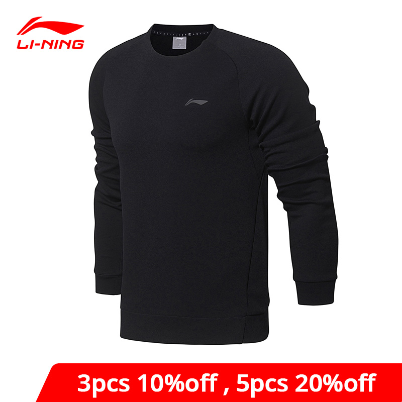 Li-Ning Men Training Essentials PO Knit Top Sweaters Regular Fit Comfort Interlock LiNing Li Ning Sports Sweater AWDN001 MWW1380