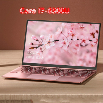 14 Inch Pink Laptop Cute Notebook Computer Girls Core I7 or Celeron 3867U Ultra-Thin Portable Business Gaming School Green - Pink, 8G 128G SDD