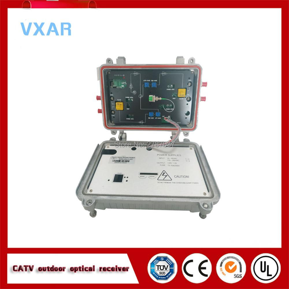 Catv extérieur fibre optique noeud 4 sorties AGC récepteur optique 220V