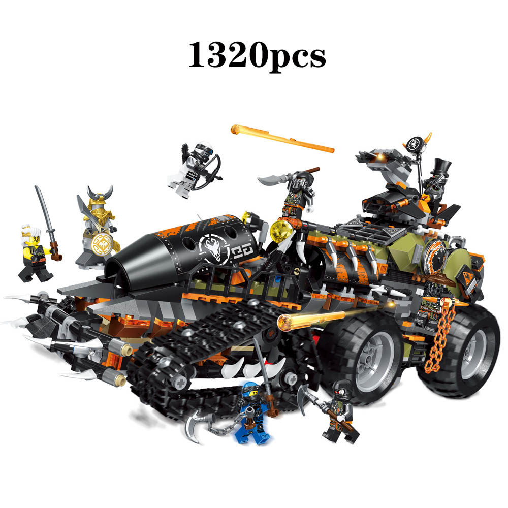 2019 Ninja Series Brick Toys compatible legoingery NinjagoING 70654 Building Blocks Playset Battle Tank Figures Hunted Car Toys