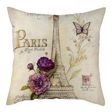 Nanacoba Эйфелева башня в Париже наволочки пейзаж Чехол на подушку