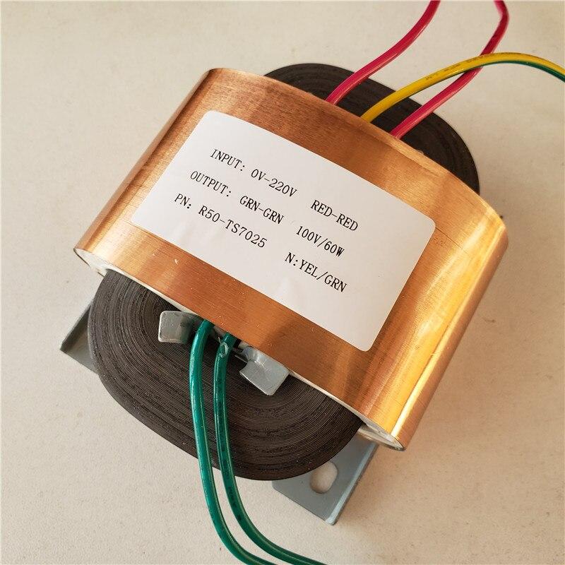 transformador feito sob encomenda 100 v 220 v do transformador r50 60va do nucleo de 230