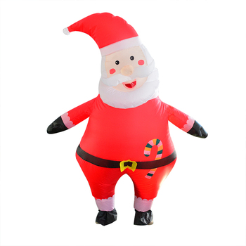 2019 Santa Claus Cosplay Costumes Inflatable Christmas Party Toys Ride On Me Carry Back Mascot Clothing Funny Halloween Dress Up